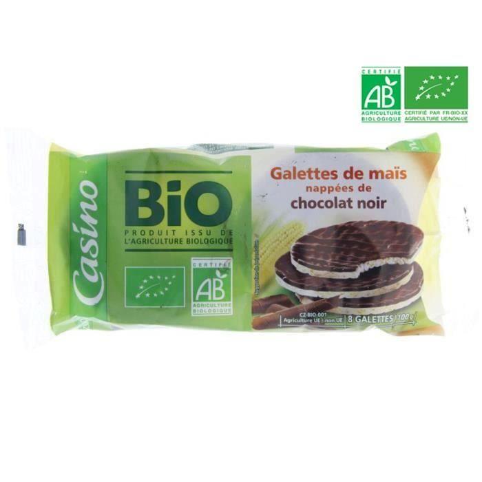 Galettes Maïs Chocolat noir BIO 100 g