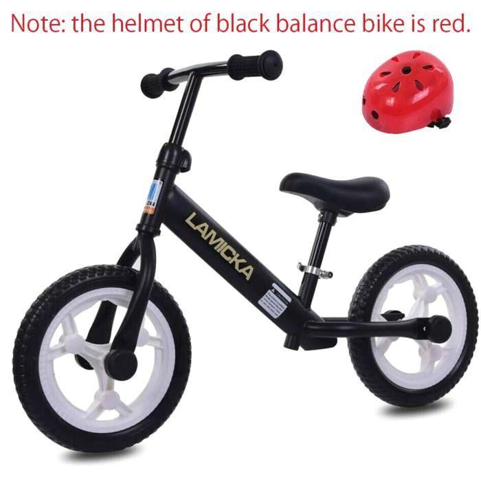 Velo Draisienne moto 12- pouces pour enfant 2-6 ans - Noir
