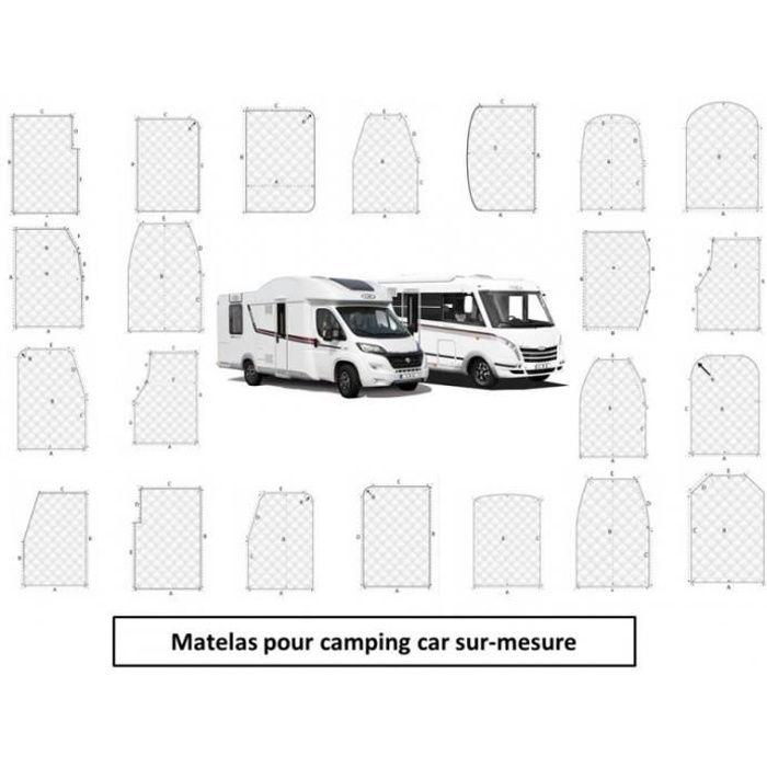 matelas pour camping-car Mémoire de forme Sur-mesure 1 Place