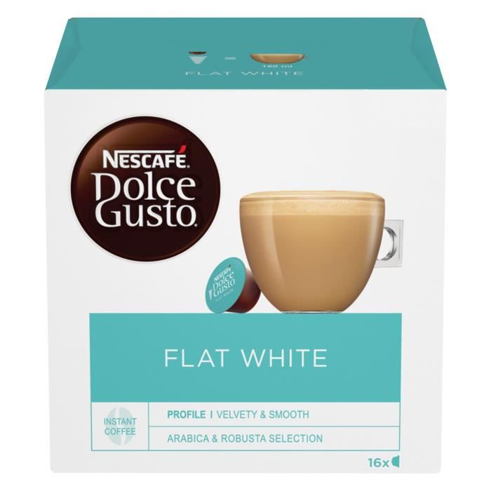 6x Dolce Gusto Flat White Cafe 16 Capsules