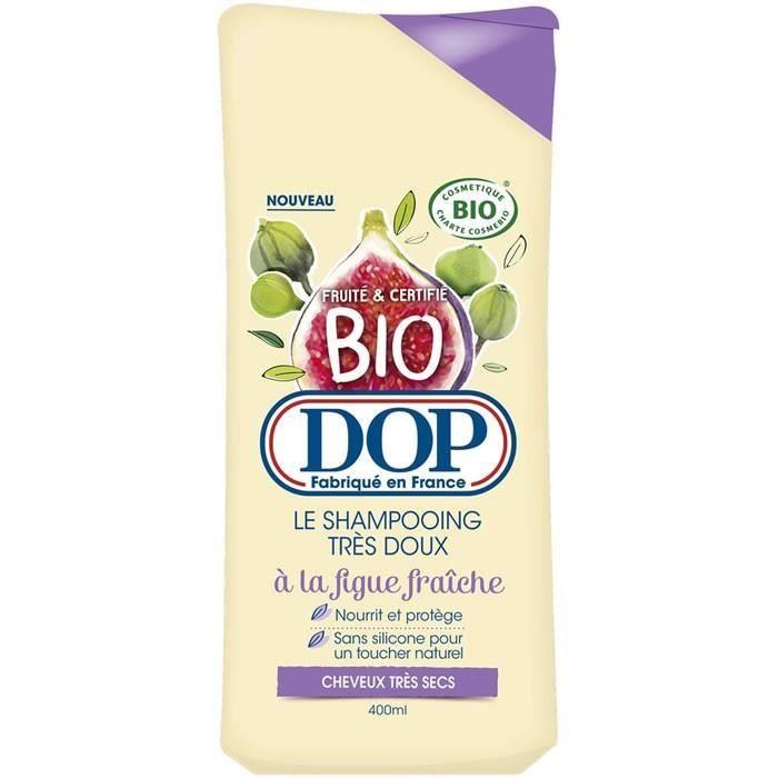 LOT DE 4 - DOP : Bio - Shampooing très doux à la figue frâiche 400ml