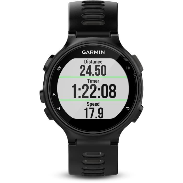 Montre GARMIN - GPS Forerunner 735XT Run Bundle - Noir et gris