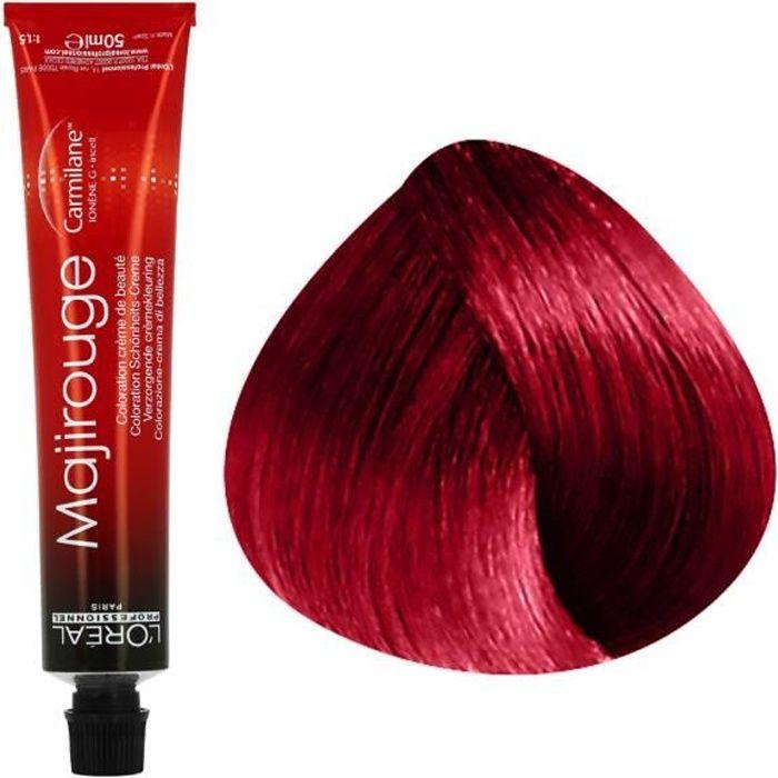 L'Oréal Professionnel Coloration rouge intense sans ammoniaque 6.66 : Blond Foncé Rouge Profond Sans ammoniaque, 50ml
