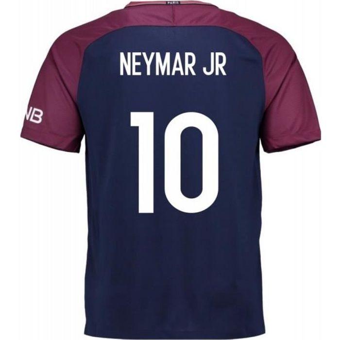 Maillot Homme Nike PSG Paris Saint-Germain Home Flocage Officiel Neymar Numéro 10 Saison 2017-2018