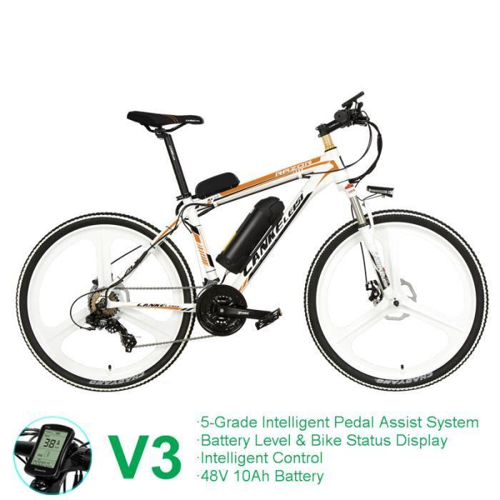 Vélo électrique de 26 pouces, vélo de ville, fourche à suspension à ressort à huile, vélo à assistance par pédale, longue endurance