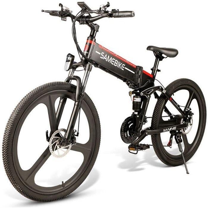 26 pouces Vélo pliant électrique Assistance électrique E-bike 48V 350W Moteur