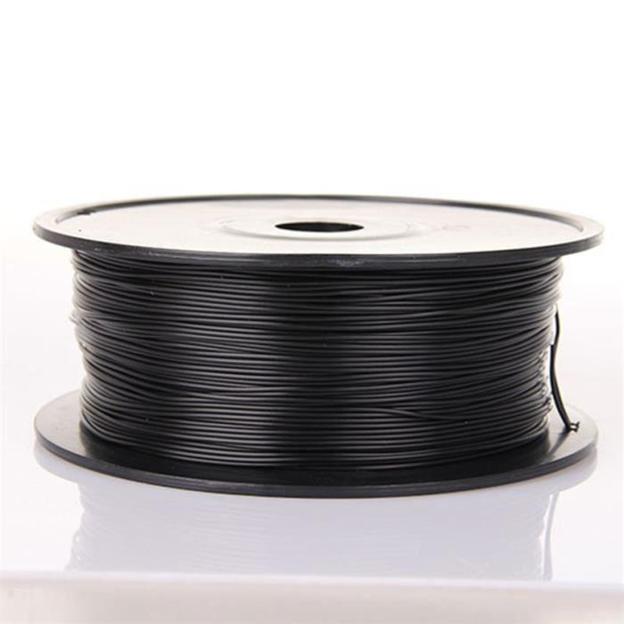 1.75mm 1kg filament Pla de l'imprimante 3D haute résistance de finition brillante noir