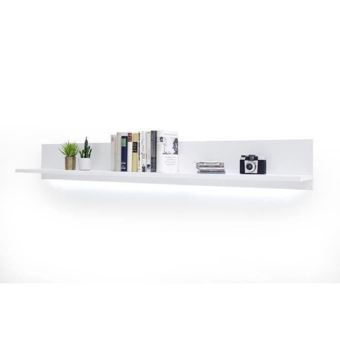 Etagere murale laque blanc - L180 x H24 x P25 cm