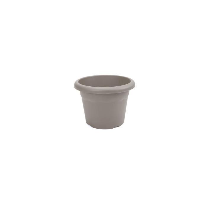 PLASTIKEN Pot à fleurs Ø 52 cm rond - Taupe