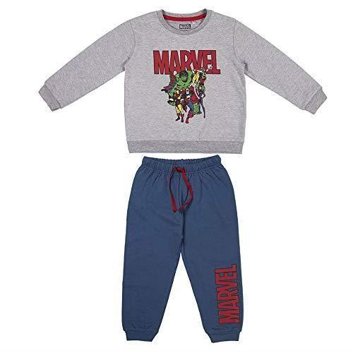 CERDÁ LIFE'S LITTLE MOMENTS 2200006248_T04A-C53 Survêtement 2 pièces The Avengers, Gris Y Azul, 4 Ans Mixte Enfant