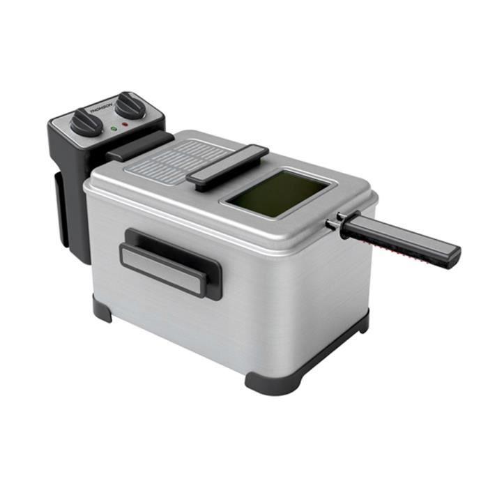 THOMSON THDF06290 - Friteuse électrique Semi Pro - Arrêt automatque - Minuterie : 30 minutes - 4L - Puissance 2000 watts
