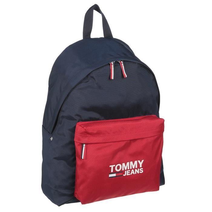 TOMMY HILFIGER Sac à Dos AW0AW076320GZ Bleu/Rouge Homme
