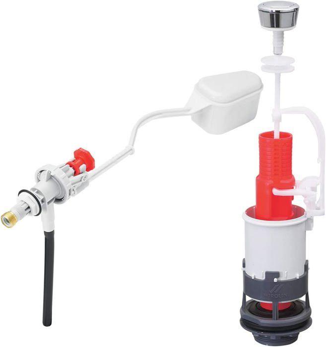 Wirquin - MP80 - mécanisme de wc à commande mécanique + robinet flotteur à levier