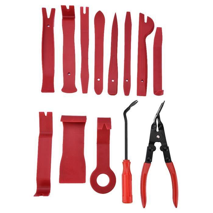 13 pièces universel panneau de porte de voiture garniture tableau de bord clips pinces attache enlèvement outils kit