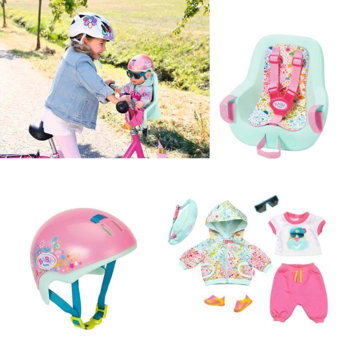 Zapf Creation 827192-215-277 Set accompagnement vélo pour poupée BABY born 43 cm