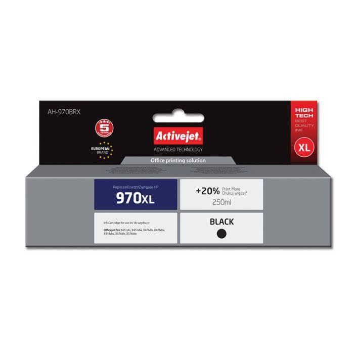 CARTOUCHE IMPRIMANTE ActiveJet AH-970BRX, HP, Noir, OfficeJet Pro X451d