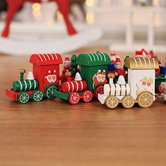 FIGURINE - PERSONNAGE Figurine Miniature C43SJ Mini train mignon en bois