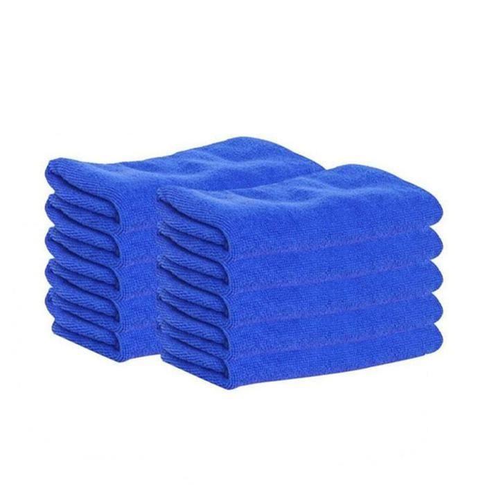 6x De Haute Qualité Micro Fibre chiffons microfibre de polissage Chiffons Lingette Nettoyantes Chiffon Bleu