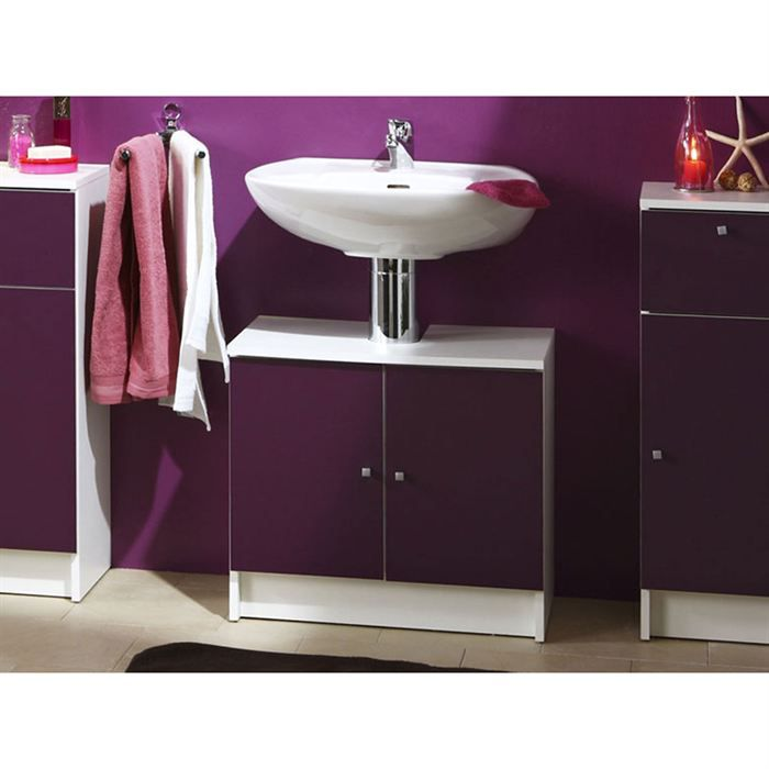 meuble sous lavabo prune 3 achat vente meuble vasque plan meuble sous lavabo prune 3. Black Bedroom Furniture Sets. Home Design Ideas