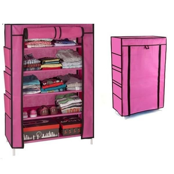 Armoire tag re chaussures rangement rose pm 90x60x30 - Etagere alimentaire rangement ...