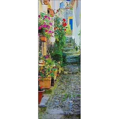 affiche poster porte d co trompe l oeil ruelle fleurs r f 725 4 dimensions dimensions. Black Bedroom Furniture Sets. Home Design Ideas