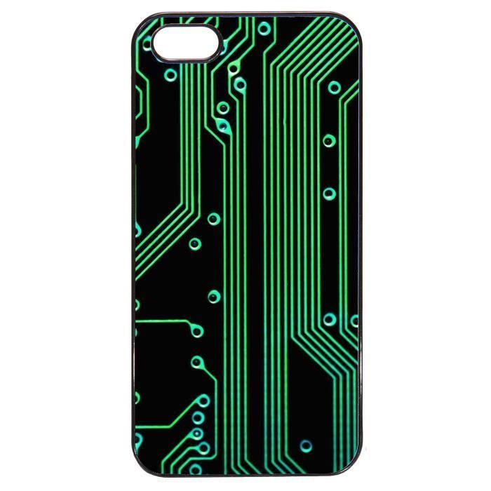 coque iphone 5 5s geek circuit imprime r