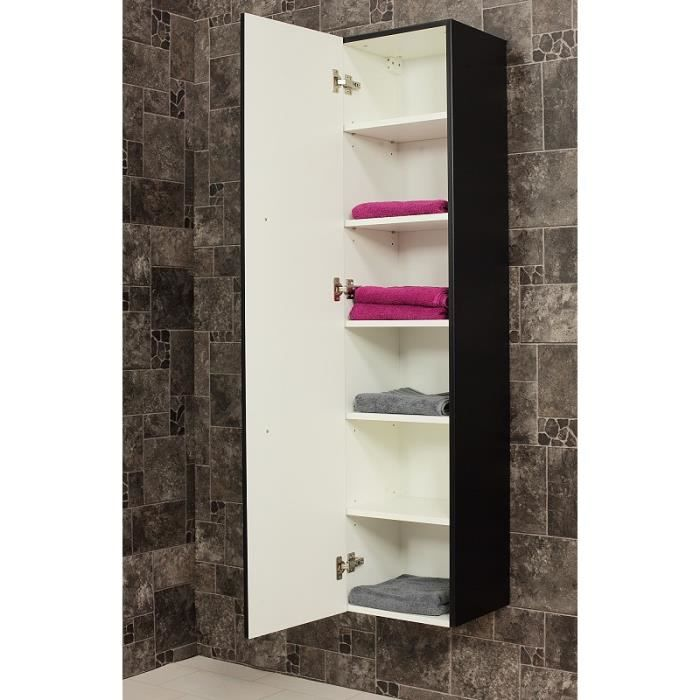 armoire haute 150 cm noir aspect affin achat vente armoire de toilette armoire haute 150 cm. Black Bedroom Furniture Sets. Home Design Ideas