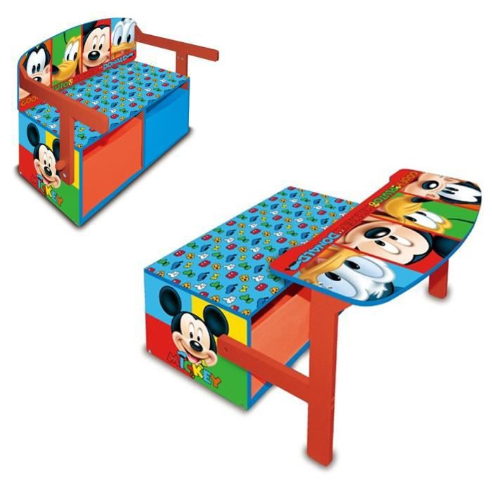 bureau meuble de rangement mickey achat vente bureau b b enfant cdiscount. Black Bedroom Furniture Sets. Home Design Ideas