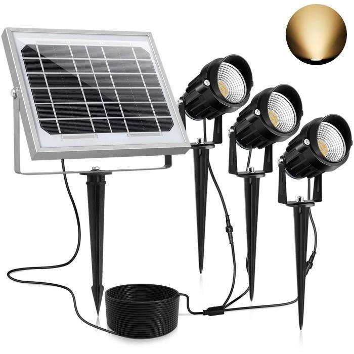 Lampe Solaire Avec D/étecteur Version Neuf Pour Patio Jardin 1800mAh CLY Spot Solaire Avec D/étecteur 30 LED Blanc Froid Eclairage Murale Projecteur Solaire Exterieur D/étecteur IP65