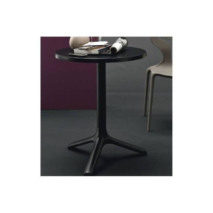 petite table ronde area t 60x60 noire de calligaris achat vente table a manger seule petite. Black Bedroom Furniture Sets. Home Design Ideas