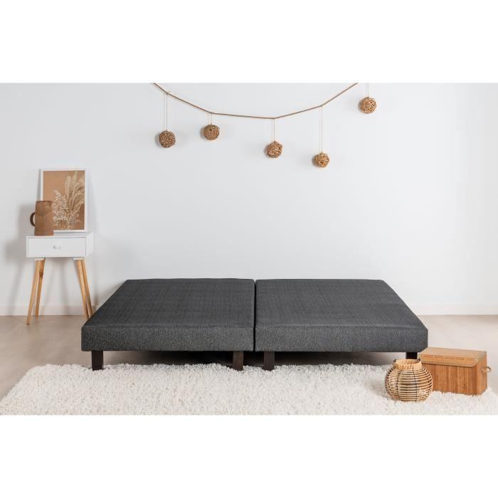 Finlandek sommier rakenne 2x80x200 cm 2 Personnes 12 Lattes Fixes tapissier