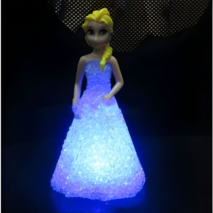 veilleuse projecteur reine des neiges disney lampe enfant lampe de led change de couleur achat. Black Bedroom Furniture Sets. Home Design Ideas