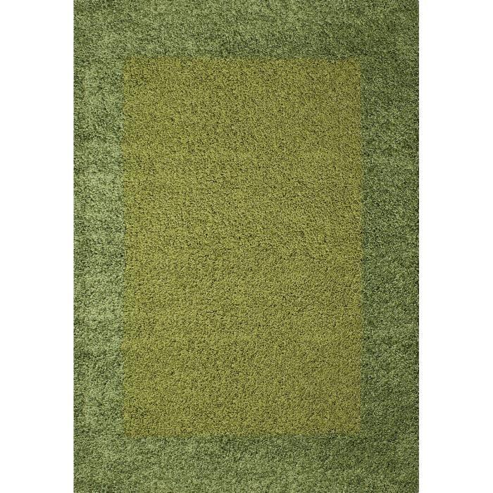 TAPIS LIFE Tapis de salon Shaggy 200x290 cm vert d'eau