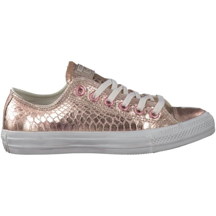 converse femmes or rose
