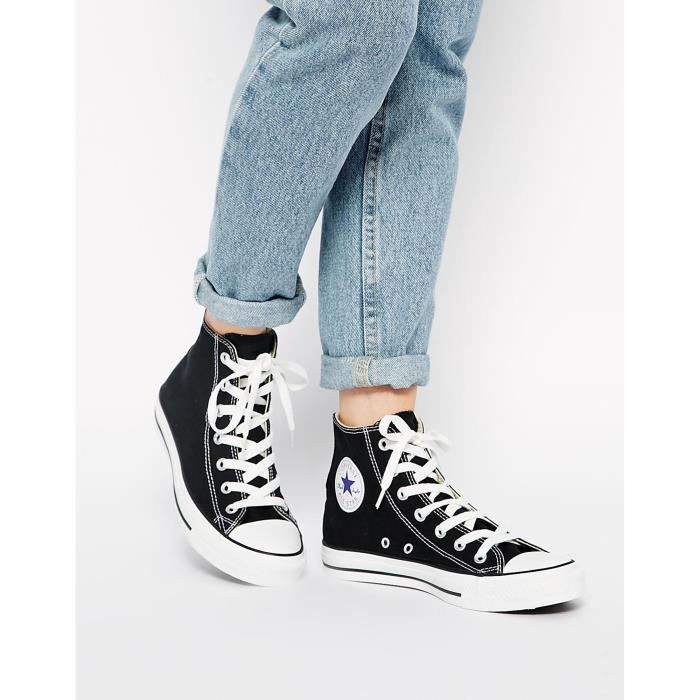 Converse All Star - Baskets montantes - Noir HQO9S Taille-37 ...