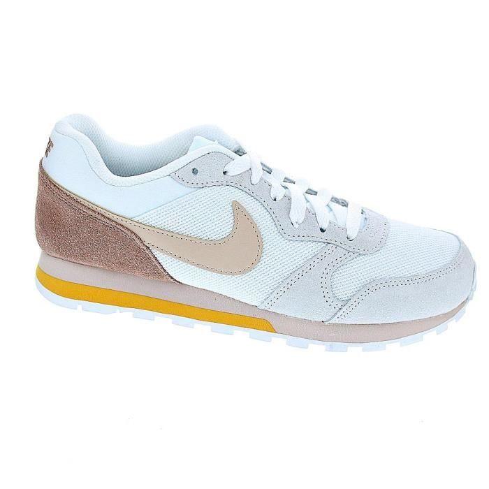 cortar en voz alta Parpadeo  Baskets basses - Nike Md Runner 2 Femme Blanc Blanc - Achat / Vente basket  - Cdiscount