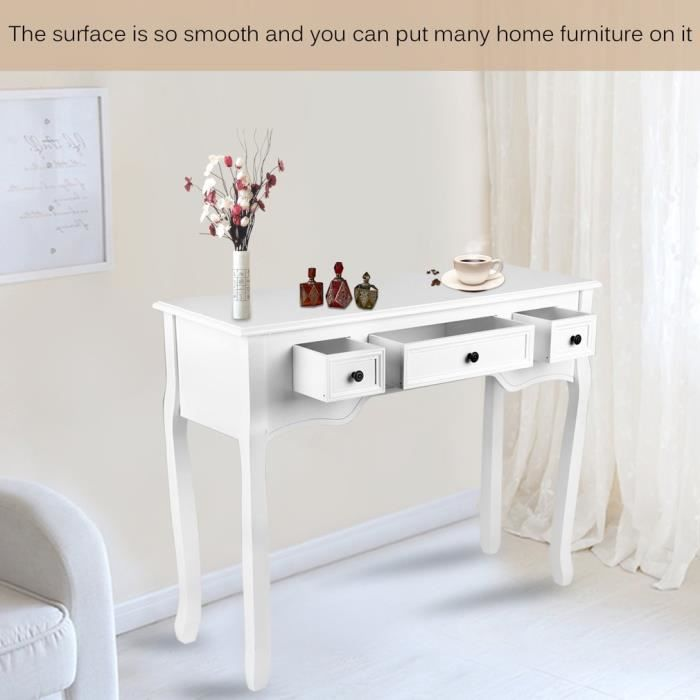 console meuble blanche achat vente pas cher. Black Bedroom Furniture Sets. Home Design Ideas