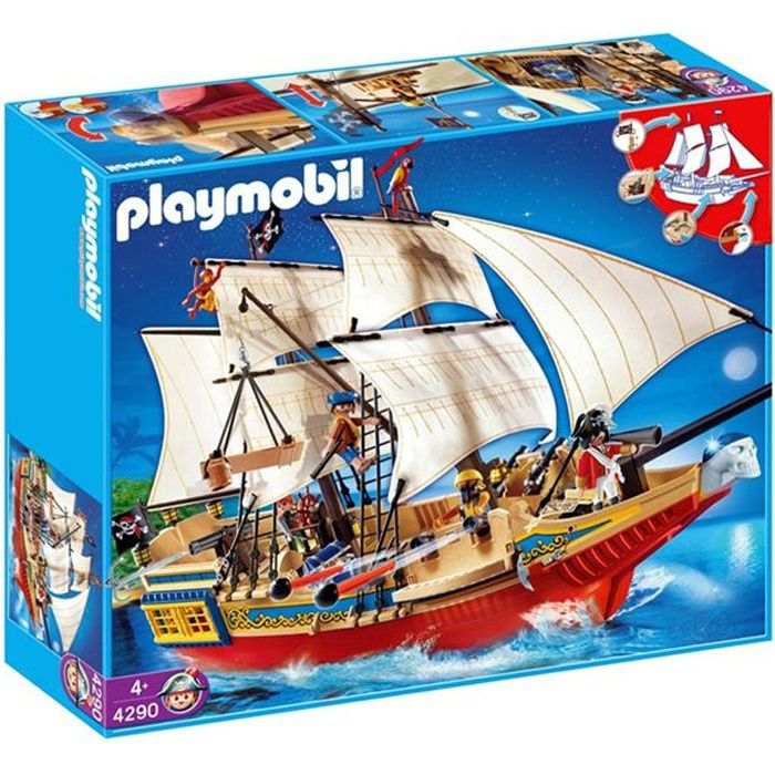 playmobil grand b teau pirate achat vente univers miniature cdiscount. Black Bedroom Furniture Sets. Home Design Ideas