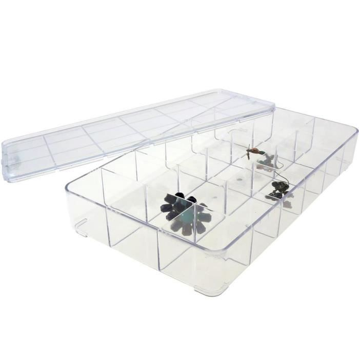bo te de rangement en plastique transparente achat. Black Bedroom Furniture Sets. Home Design Ideas