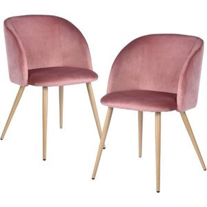 chaise de cuisine rose parme