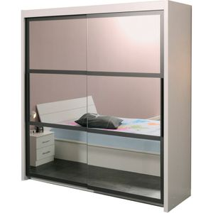 armoire swithome soto portes coulissantes blanche achat. Black Bedroom Furniture Sets. Home Design Ideas