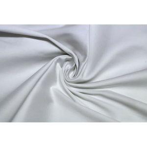 TISSU Tissu Satin de Coton Vegas Blanc Au Mètre