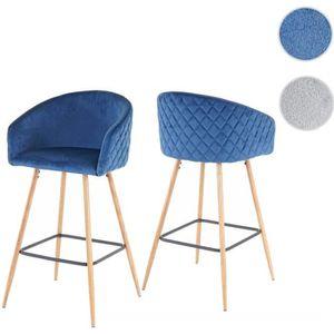 TABOURET DE BAR 2x tabouret de bar HWC-D72, chaise bar/comptoir, a