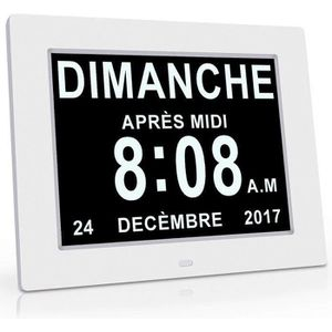 HORLOGE - PENDULE Horloge Calendrier avec Date Jour Heure Alarme Aut