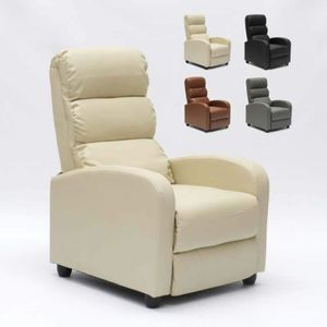 FAUTEUIL Fauteuil relax inclinable avec repose-pieds en sim