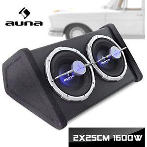 CAISSON DE BASSE auna - Double caisson de basses pour voiture - Sub