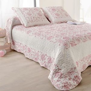boutis 260x260 rose achat vente boutis 260x260 rose pas cher cdiscount. Black Bedroom Furniture Sets. Home Design Ideas