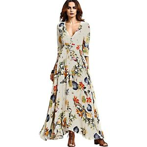 ROBE Channy® Robe Femme Bohême Maxi Longue Floral Impri