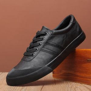 BASKET Chaussures baskets Cuir Homme Noir Respirante Chau