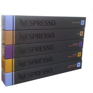 CAFÉ Nespresso Lot de Café et Decafeine Varié - 50 Caps